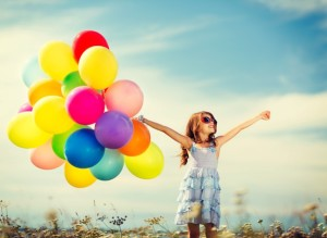 Girl Baloons